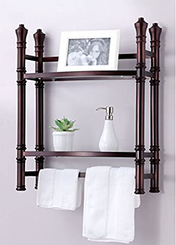 Best Living Monaco Wall Mount/Countertop Etagere Shelf, Oil Rubbed Bronze