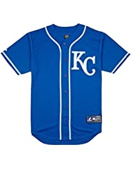 Majestic - Maillot de Baseball MLB KansasCity Royals Majestic Replica Bleu