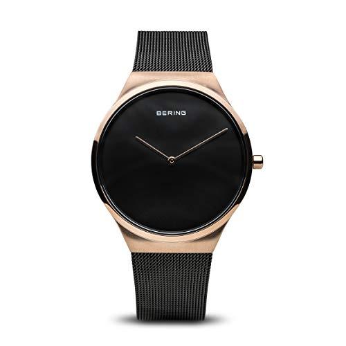 BERING Unisex Erwachsene Analog Quarz Uhr mit Edelstahl Armband 12138-166