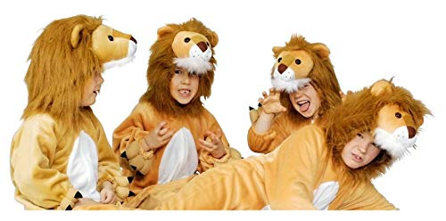 narrenkiste K312525-116-128-A beige-weiß Kinder Junge Mädchen Löwen Kostüm-Overall Gr.116-128 (Mädchen Für Löwen Kostüme)