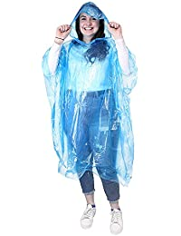 eBuyGB Emergency Water Proof Rain Ponchos With Hoods, Pack of 9