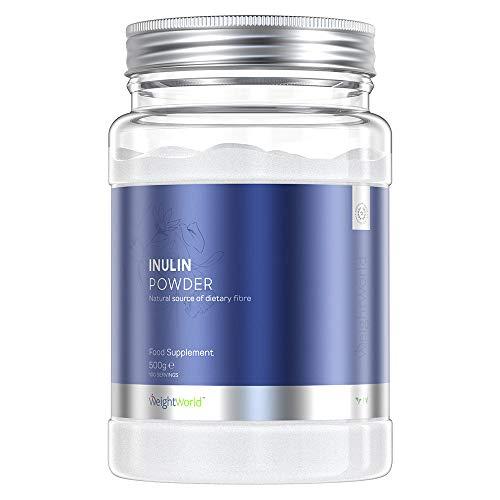 Premium Inulin Pulver   500g Inulin Pulver   Kalorienarmes & Ballaststoffreiches Präbiotikum   Aus der Natürlichen Chicoree Wurzel   Vegan und Vegetarisch   Für Verdauung und