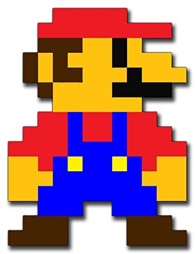 8 BIT MARIO Funny Aufkleber Sticker for Skateboards, Snowboards, Scooters, BMX, Mountain Bikes, Laptops, iPhone, iPod, Guitars etc -
