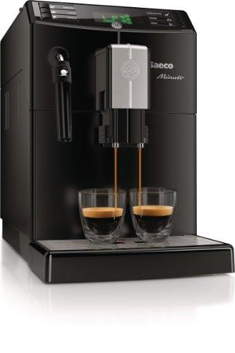 Saeco HD8761/01 Minuto Kaffeevollautomat, klassischer Milchaufschäumer, schwarz - 5