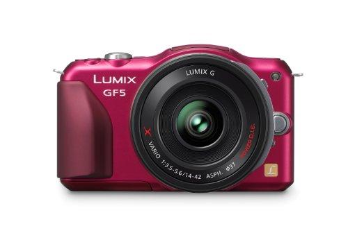 Panasonic Lumix DMC-GF5XEG-R Systemkamera (12 Megapixel, 7,5 cm (3 Zoll) Touchscreen, Full HD Video, bildstabilisiert) inkl. Lumix G Vario 14-42 mm Objektiv rot - 2