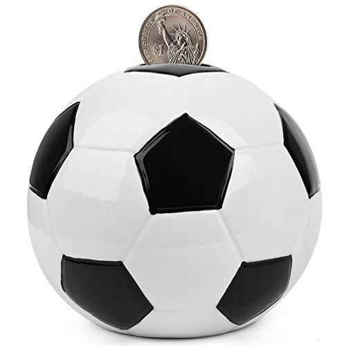 sparschwein keramik - fußball Spardosen münze Bank - 5 Designs für Wahl Golf/Basketball/Fussball/Rugby/Hockey 6,5\'\'- PEHOST
