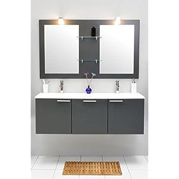 badm bel set mit waschbecken spiegel unterschrank doppel waschtisch. Black Bedroom Furniture Sets. Home Design Ideas