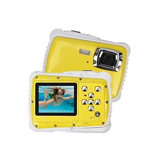 SHENGY Wasserdichte Digitalkamera mit 4X Digitalzoom 2-Zoll-LCD-Video-Unterwasserkamerarecorder (12 MP) für Kinder,Yellow
