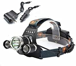 XM-L T6 LED 3T6 Rechargeable Headlamp Headlight Torch -