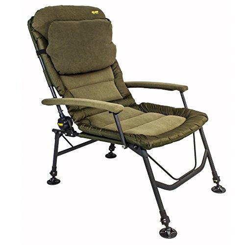 BAT-TackleChillzone Super Recliner Chair mit Armlehnen und Kissen