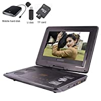 "10.2"" Portable DVD Player with 10.2"" HD Screen,Rechargeable Battery Support HDMI Input,1080P Video,Sync Screen,USB/SD Card Direct Play in Multiple Disc Formats"