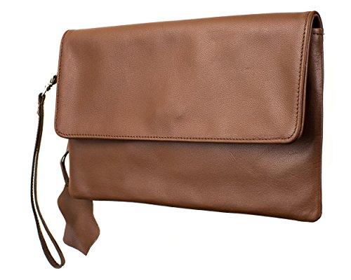 Joselle  Clutch Bag A1009, Pochette pour femme cognac
