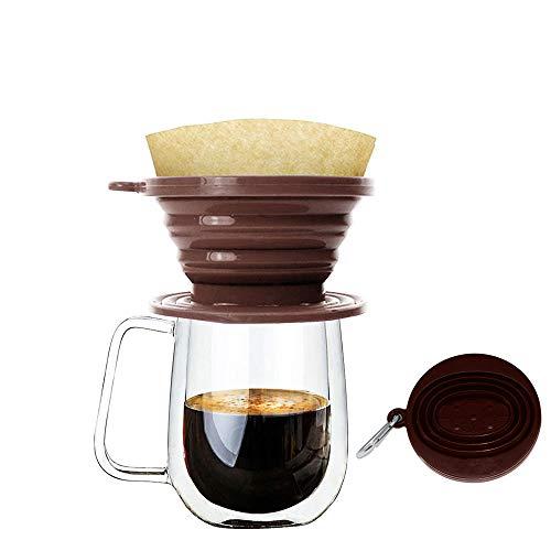 Wolecok Faltbarer Kaffeefilter aus Silikon, lebensmittelecht, perfekt für Draußen und für...