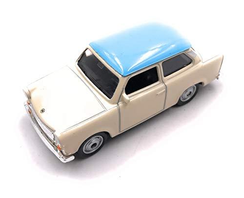 Trabant Trabant modello di auto auto prodotto con licenza 1:60 Blu//Beige