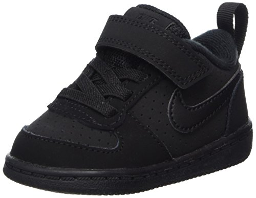 Nike Unisex-Kinder Court Borough Low (TDV) Basketballschuhe, Schwarz Black 001, 26 EU (Bau-kinder-schuhe)