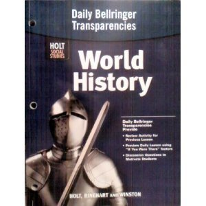 Daily Bellringer Transparencies for World History Holt Social Studies by Holt Social Studies (2005-08-01)