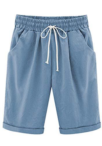 WSLCN - Pantalones Cortos de Playa para Mujer