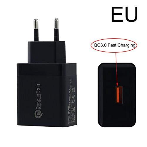 Home Travel Ac Adapter (Createjia USB Stecker Ladegerät 3.0 5V 3A Handy Schnellladegerät EU/US Stecker Für Wall Home Travel AC)
