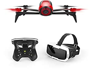 Parrot Bebop 2 FPV Drone in a Set with Skycontrollerand FPV Goggles, White by Parrot