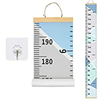 Baby Growth Chart Canvas Wall Hanging Measuring Rulers for Kids Boys Girls Room Decoration Nursery Removable Height and Growth Chart 7.9 x 79 inch