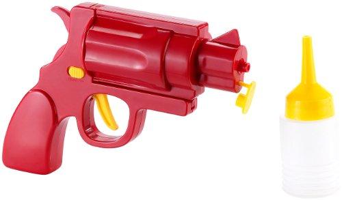 infactory Senfpistole: Ketchup- und Senf-Pistole 2in1 (Dosierspender)