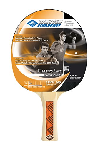 Donic-Schildkröt Tischtennisschläger Champs Line 200, Noppen außen, 1,0 mm Schwamm, 705122