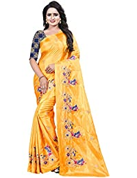 [Sponsored]Ecolors Fab Women's Silk Embroidered Saree With Blouse Piece