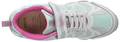 Geox J Android Girl B, Baskets Basses Fille Mehrfarbig (GREY/MINTC1F3Z)