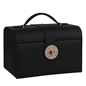 Rowling Jewelry Box Beads Rings Cufflinks Bracelet Storage Box Gift Dimond Lock 191D