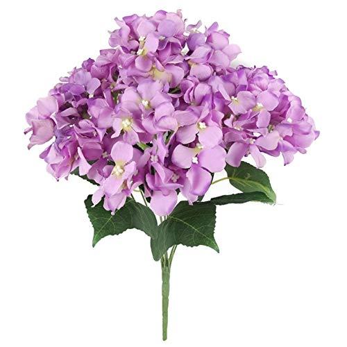 Hydrangea Bush - 55,9 cm Vert Hydrangea Bush Têtes de balai en soie artificielle - Petites pelouses de magnolia à l'intérieur - Grandes têtes décoratives paradisiaques - Flor, VZBTIJYCSYPREY71UD2B, D