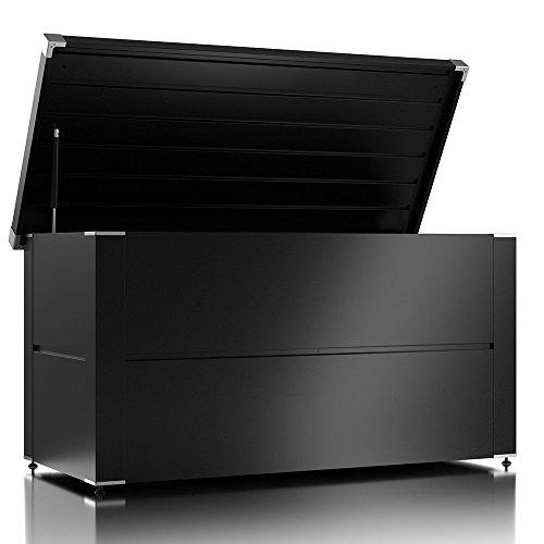 ILESTO Aufbewahrungsbox Benni-Boy: Kissenbox und Auflagenbox wasserdicht für Ihren Garten, Anthrazit L 135x65x69 cm