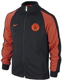 Nike Y Nsw N98 Trk Jkt Aut - Chaqueta línea Manchester City F.C. para niño, color negro, talla XL