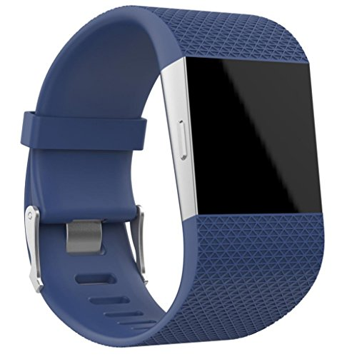 OVERDOSE Armband für Fitbit Surge, Ersatz Armband Band Verschluss Wölbungs Werkzeug Installationssatz für Fitbit Surge (Dark Blue, 160-190MM)