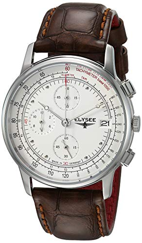 Elysee Unisex Erwachsene Analog Quarz Uhr mit Leder Armband 11010 - Heritage Produkte Rose