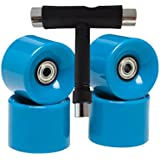 South Coast Skates Set of 4 Skateboard Wheels - Complete with Super Smooth Abec 7 Bearings - Large Colour Range