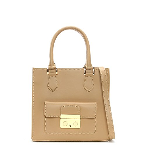 Daniel Muddler piccola in pelle Beige strutturata Tote Bag Beige Leather