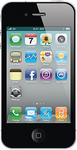 "Apple iPhone 4, 3,5"" Display, Sim-Free, 16 GB, 2011, Schwarz (Generalüberholt)"