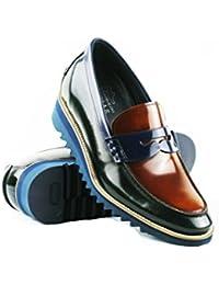 Zerimar Chaussures De Style Décontracté En Cuir Avec Marrontalla Élastique Couleur 44 jeu obtenir authentique acheter hhrwT6P5