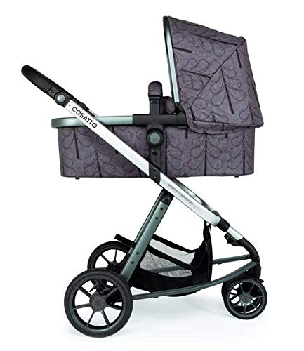 Cosatto Giggle 3 Pram & Pushchair Fika Forest Cosatto Enhanced performance. unique tyre material and all-round premium suspension give air-soft feel. Comfy all-round. spacious carrycot for growing babies.  washable liner. reversible reclining seat. Nippy 3-wheeler. sporty, streamlined manoeuvrability helps negotiate tight spots. 4