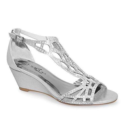 Lunar , Sandales pour femme silver