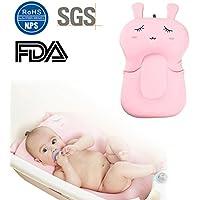 Alfombrilla para bañera de bebé, de 0 a 6 meses, de malla antideslizante, colchón flotante, elastano, Pink Rabbit, 54cm/21.26in X 33cm/12.99in
