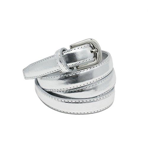 YEHMAN - Cinturón - para mujer plata 120 cm