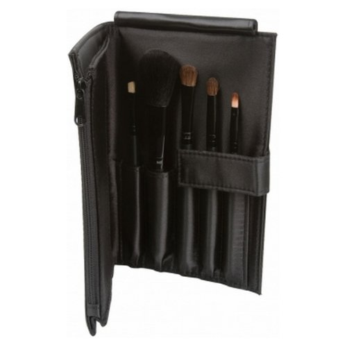 (6 Pack) LA GIRL Essential Makeup Brush Set - Black