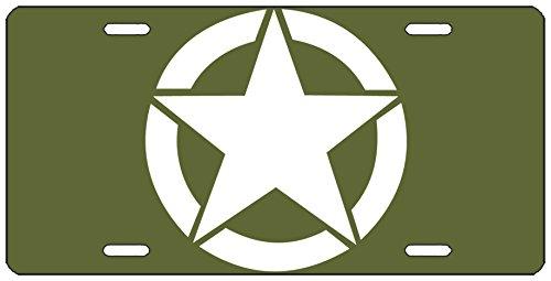 Preisvergleich Produktbild Rogue River Tactical US Army Star License Plate Neuheit Auto Tag Vanity WWII Geschenk American Patriotische Vereinigten Staaten Militär