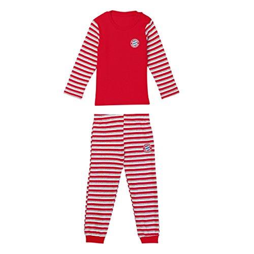 Bayern MÜNCHEN kompatibel Baby Schlafanzug Streifen + Sticker München Forever, Tshirt, FCB, Shirt (116)