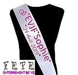 Echarpe Miss personnalisable : Future Mariée EVJF
