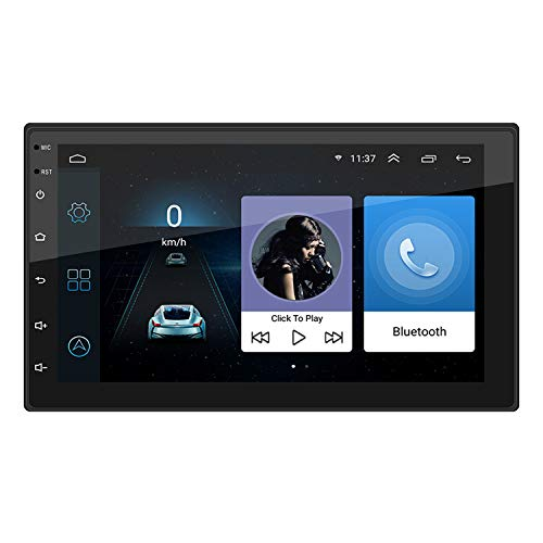 SODIAL 9217 7In Prensa Android 8.1 Monitor Reproductor De Mp5 Estereo De Coche GPS Navi WiFi BT FM Radio Bluetooth/Inversion/GPS/Funcion De Enlace De Espejo