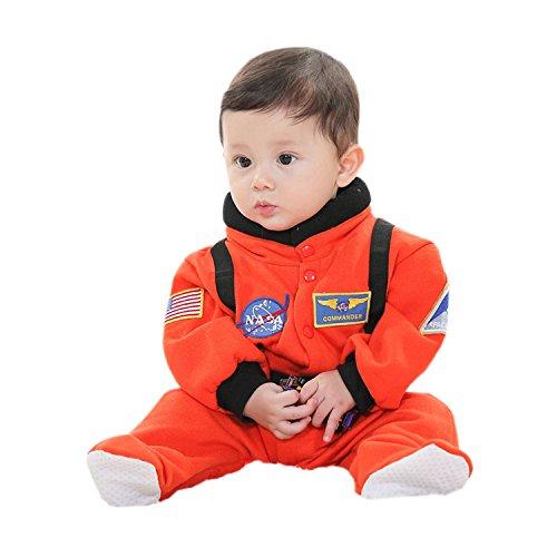 Orange Kostüm Kind Astronaut - BabyPreg Kleine Kinder NASA Astronaut Raumanzug Halloween-Kostüm Zu (90, Orange)