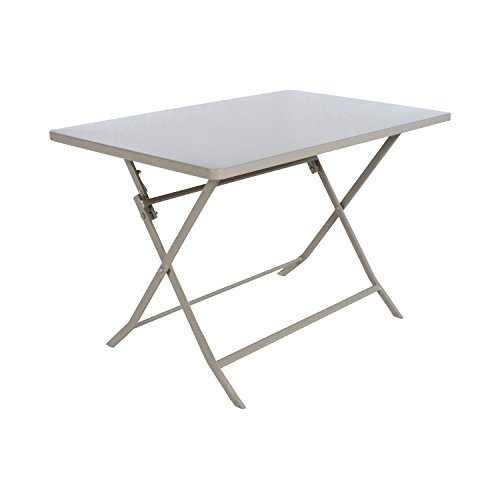 Table pliante rectangulaire Greensboro - 4 Places - Taupe