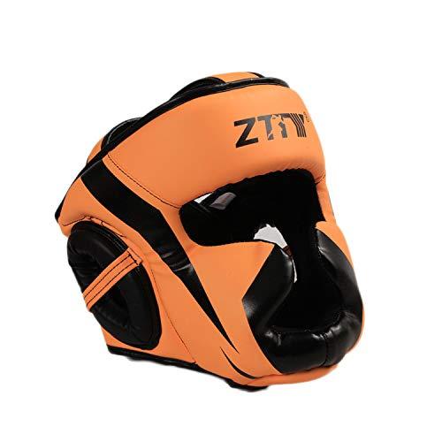 r und Frauen, die Schutzhelm trainieren, Erwachsene Taekwondo-Kinderboxen Sanda Muay Thai-Helm, Verdickungskampf-Kopfbedeckung, bequemer, atmungsaktiver Gehörschutz gegen Helm ()